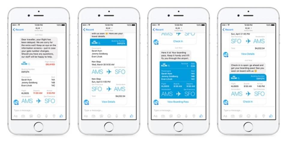 フェイスブックメッセンジャーが航空会社と提携。チャットで予約確認が可能に