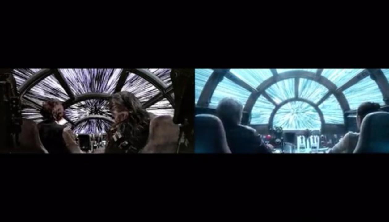 スター・ウォーズ「新たなる希望」と「フォースの覚醒」を並べて比較