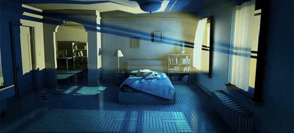 悪夢を見せる部屋。寝ても覚めても悪夢