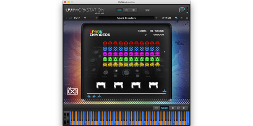 UVIのソフトウェア音源でインベーダーゲームができるってドユコト?