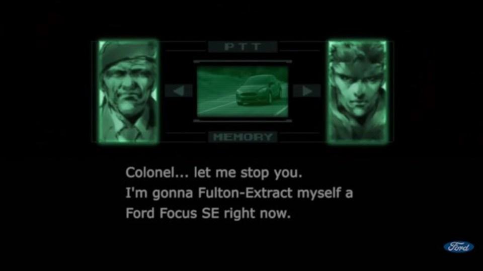 スネーク本人が出演! フォードがCMに「メタルギアソリッド」を起用