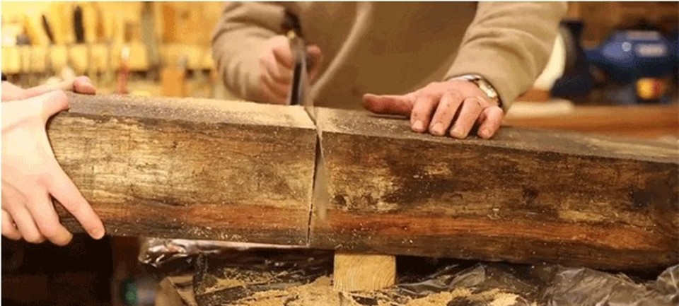 古いオーク材を、DIYで丈夫なベンチに蘇らせる