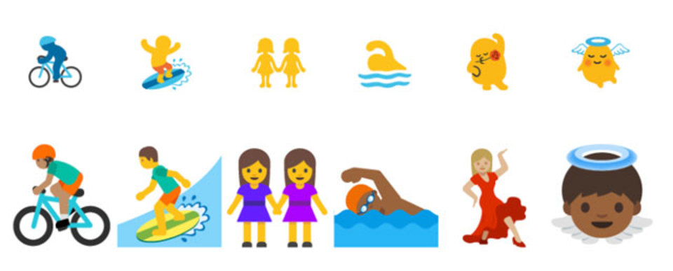 Androidの絵文字デザイン変更。黄色いアイツがより人間らしく