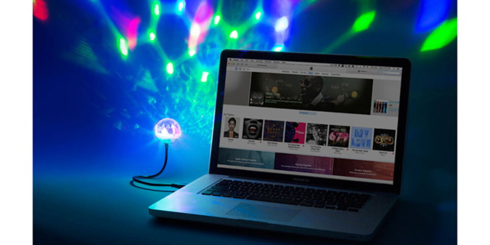 周囲の音に合わせて光るLEDライト「Party Ball USB」でどこでもパリピ!