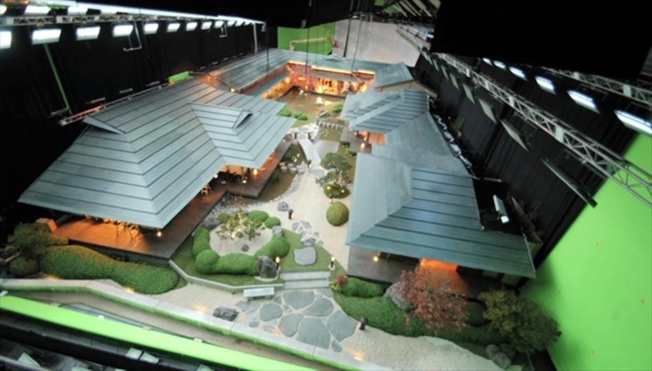 映画「ウルヴァリン:SAMURAI」のヤシダの屋敷設置タイムラプス
