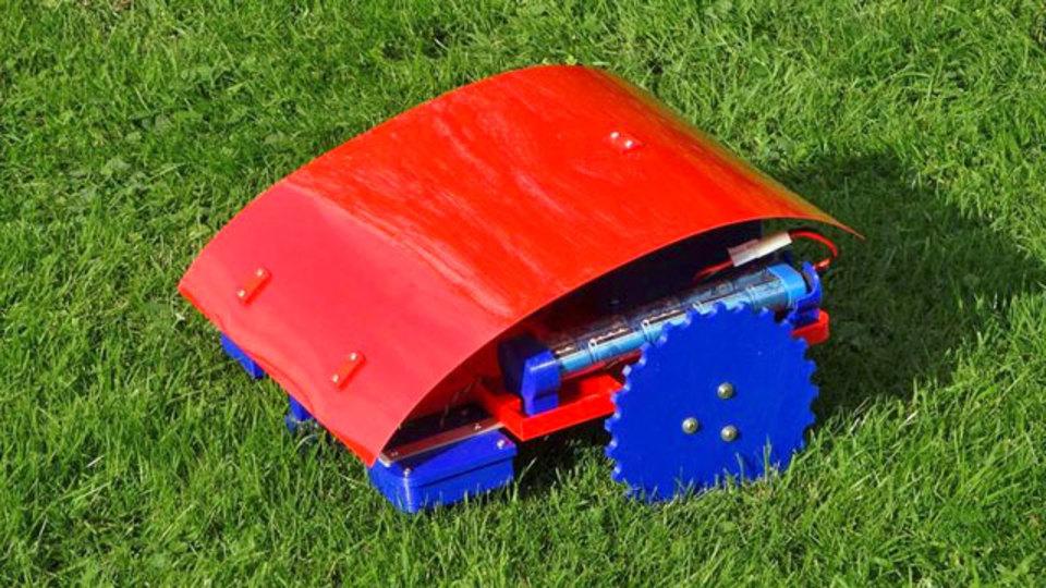 3Dプリンターで作るロボット芝刈り機、愛着わきそう