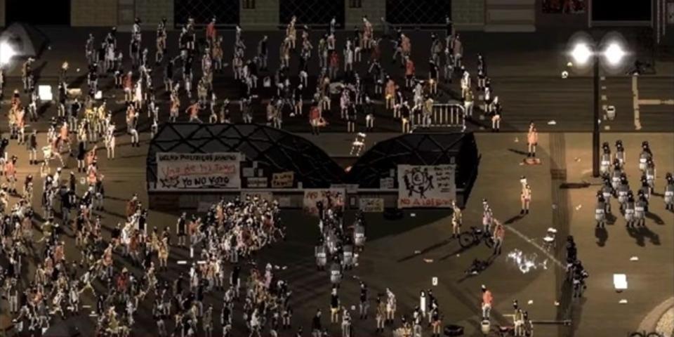 ピクセルで暴徒と機動隊の衝突を描く暴動シミュレーターが登場