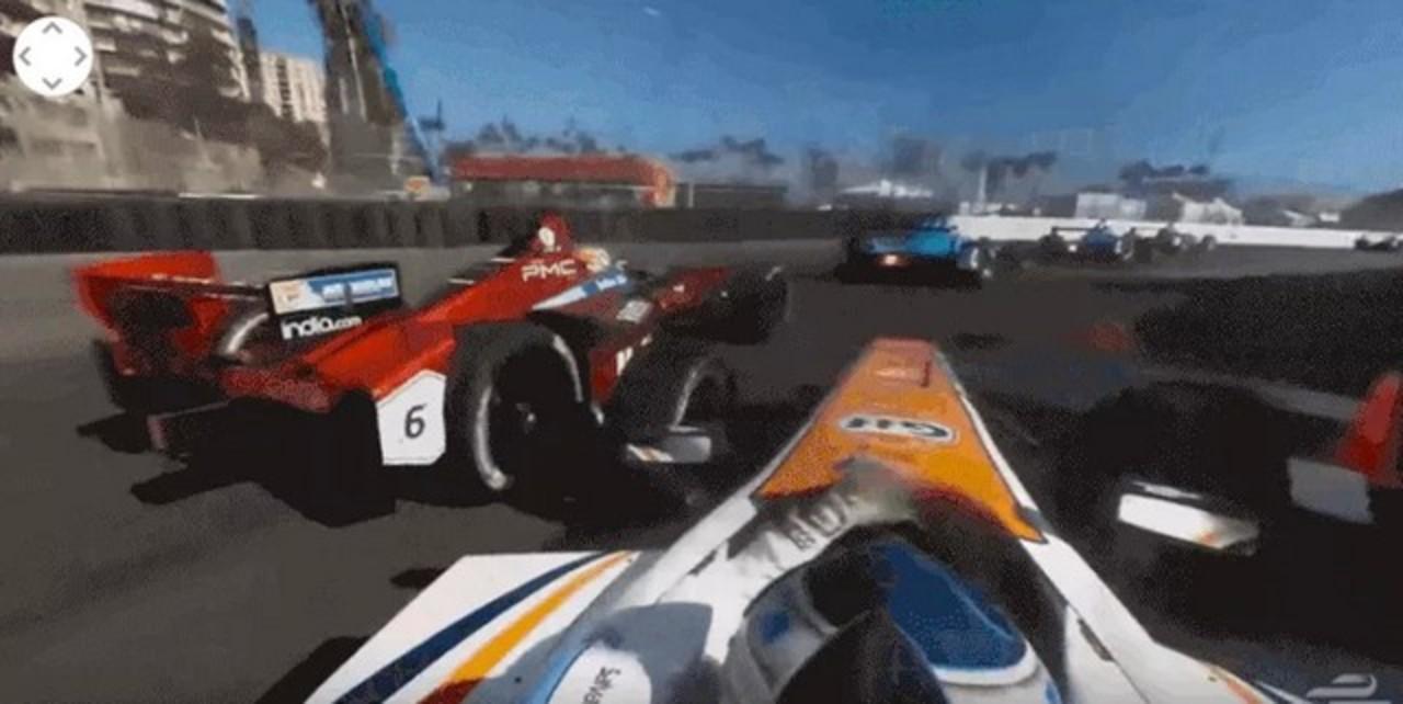 電気自動車のF1こと「フォーミュラE」のドライバー視点を360度動画で