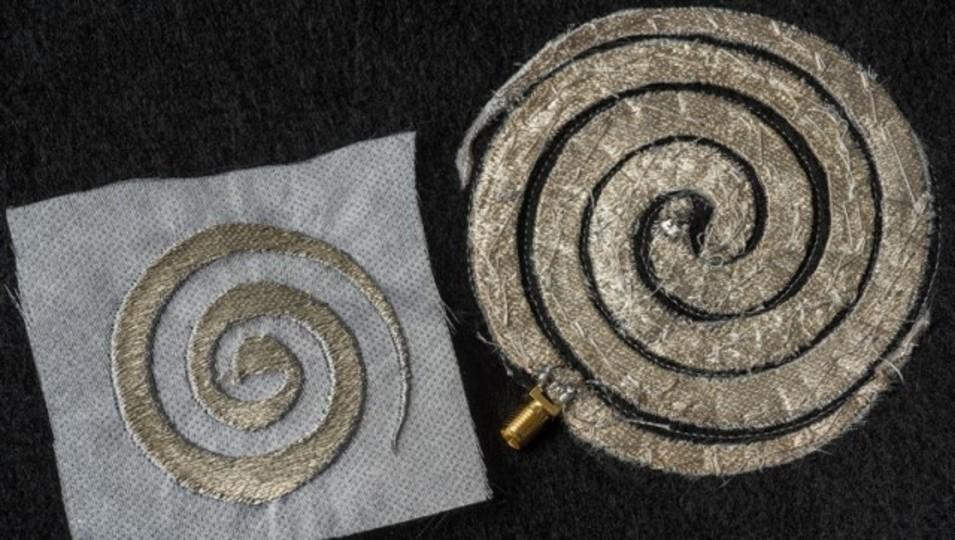 ミシンを使えば15分で縫える。ウェアラブルな電子回路が刺繍で実現