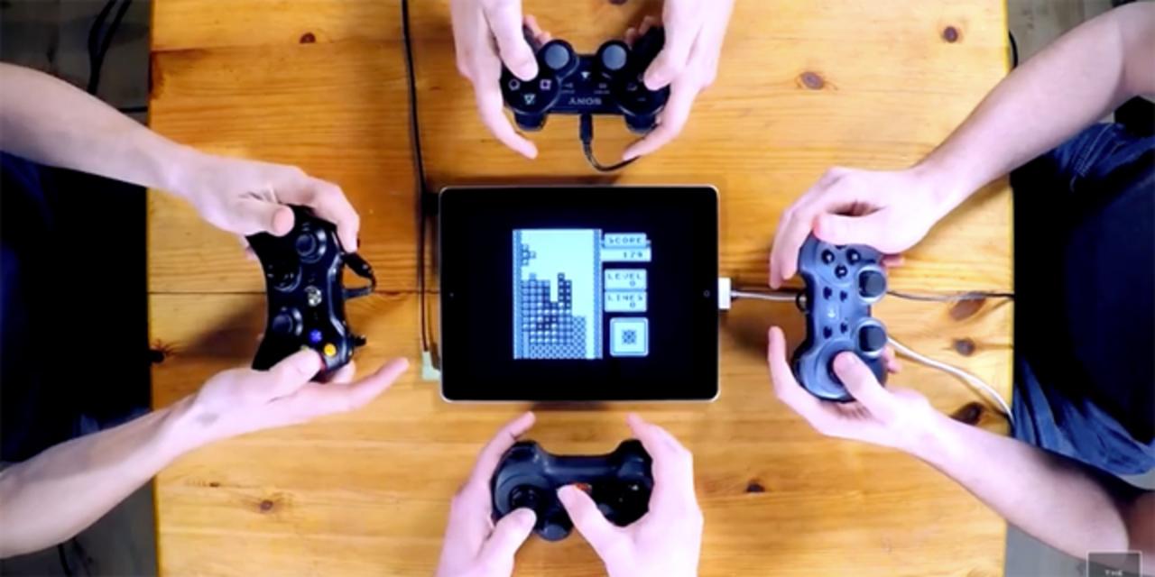 ゲームコントローラー4台でレトロゲームミュージック・セッション