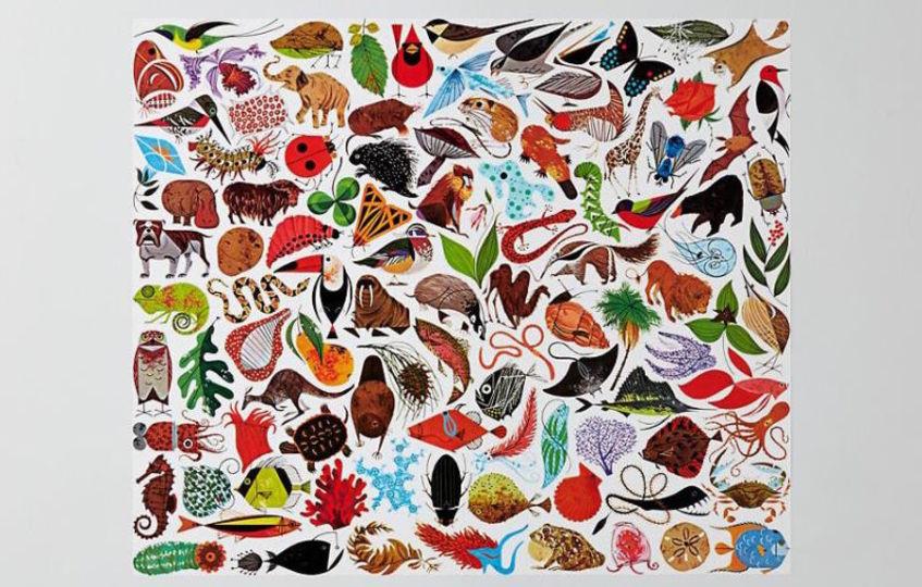 心和ましい動植物イラストが、家具になりました!50年代アメリカ風インテリアにもぴったり