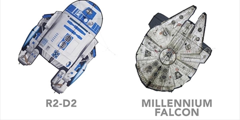 R2-D2やデス・スターが宙を舞う「スター・ウォーズ」凧