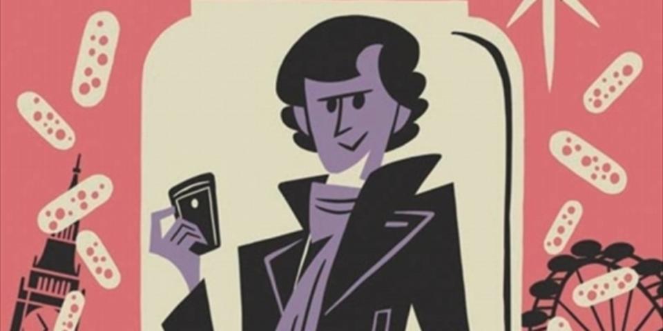 日本人アーティストがポップに描いたコミック版「SHERLOCK」が登場