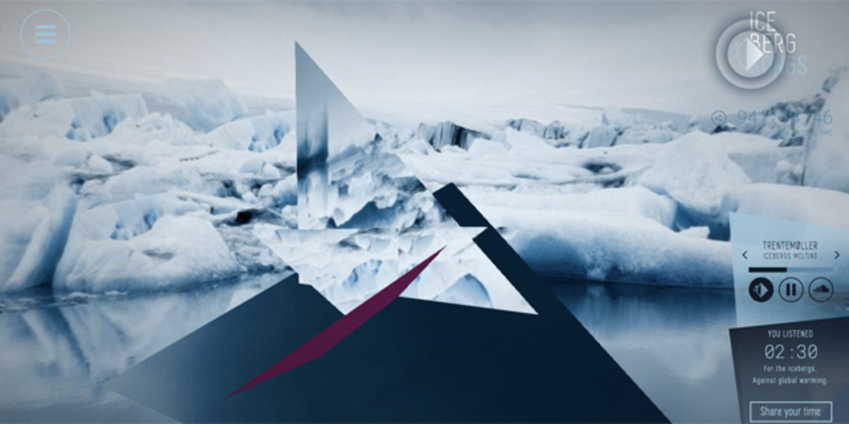 そこは今も泣いている。氷山の奏でる音から音楽を作るプロジェクト「Iceberg Songs」