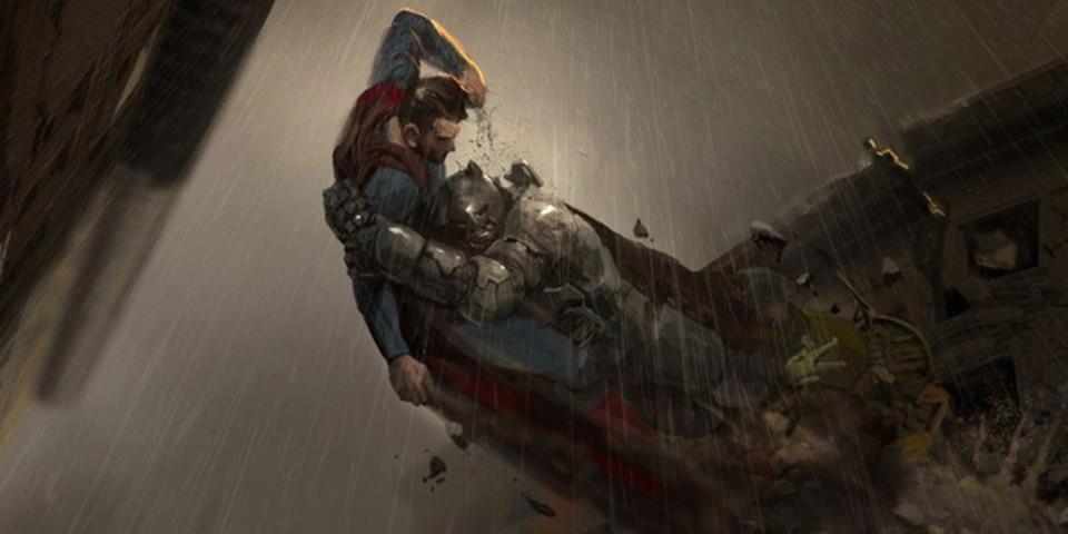 映画「バットマン vs スーパーマン」のために描かれたコンセプト・アート集
