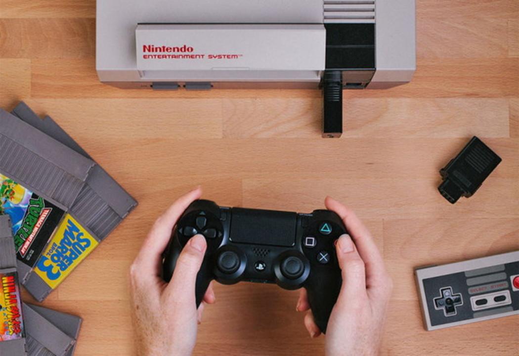 PS4他の無線コントローラーでNESがプレイできるようになるアダプタ