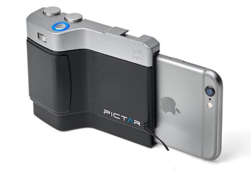 iPhoneを一眼レフのように。ズームに露出補正までできるiPhone用カメラグリップ