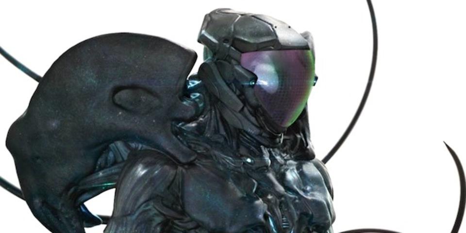 人間が宇宙生物を取り込んだら? 「シドニアの騎士」をリアルなCGで描いたアート