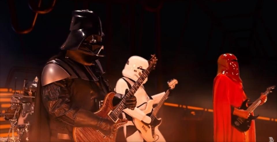 メタルバンド「銀河帝国」によるスター・ウォーズの「帝国のマーチ」