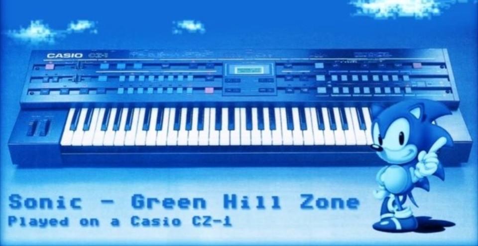 (ドラム以外)カシオCZ-1のみでソニックの「Green Hill Zone」を演奏