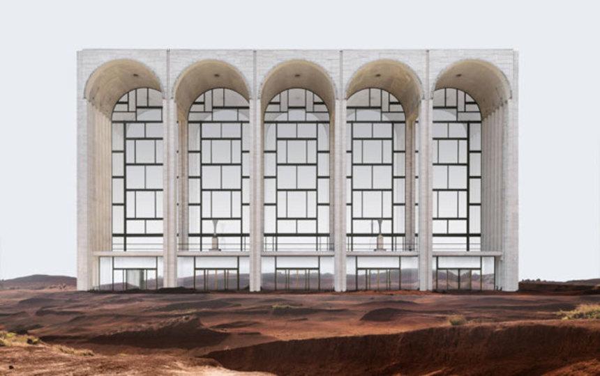 グッゲンハイム美術館が、国連本部ビルが…。場所が変わればSFのセットに