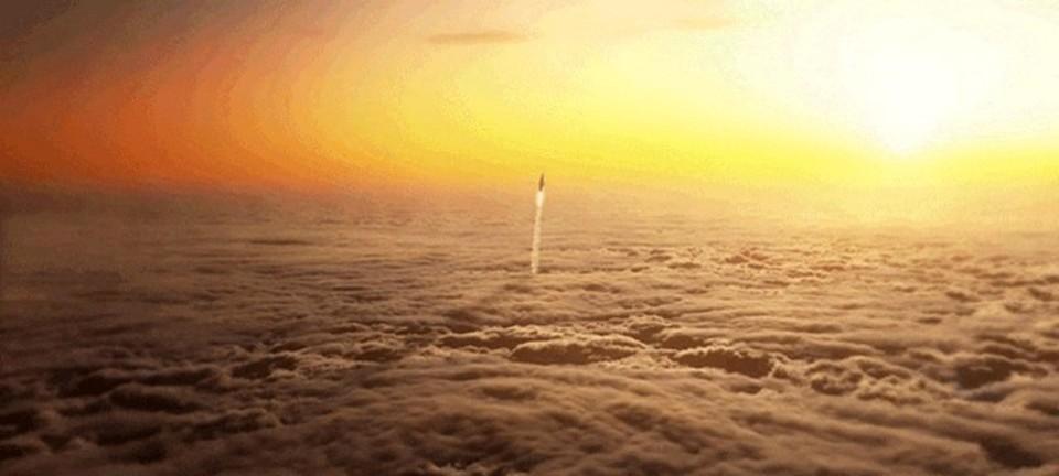本物と見紛うクオリティ。宇宙へ向かうロケットを描写したCGアニメ