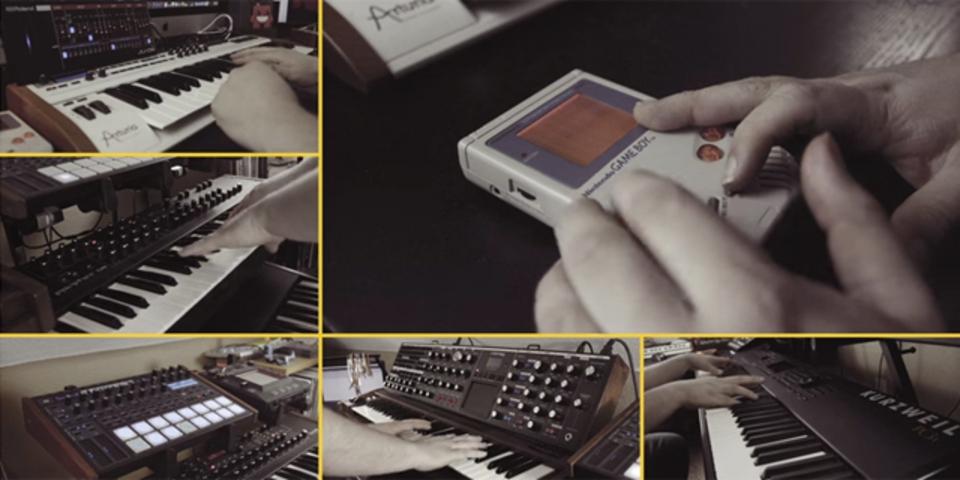 シンセ+ゲームボーイで「スーパードンキーコング」のBGMを演奏