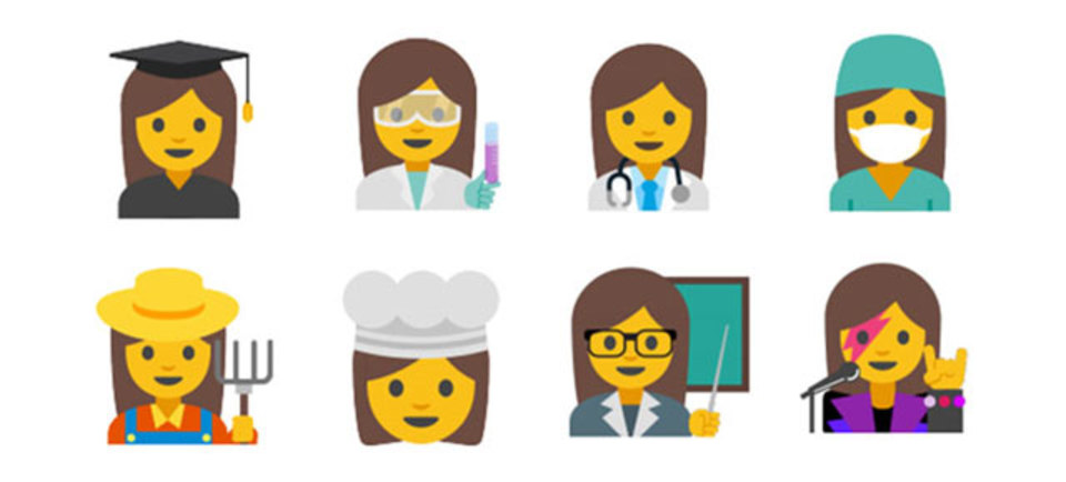 Googleが提案する新絵文字、女性キャラが多数登場