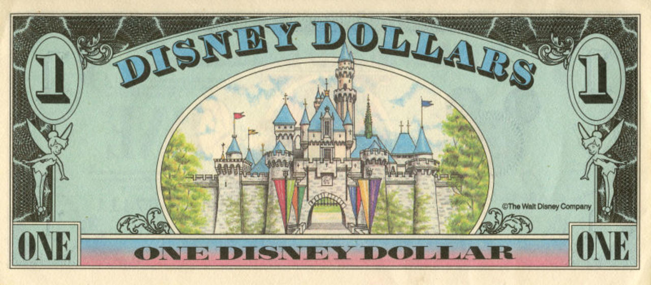 ディズニーだけで使えるドル紙幣、「ディズニードル」が廃止へ