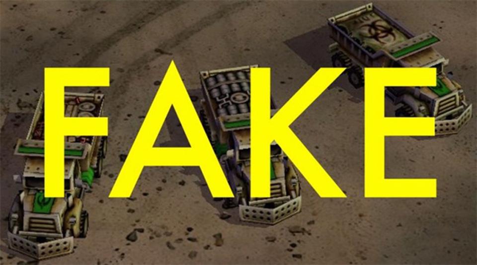ロシアがツイートした化学兵器トラックの写真は、ゲーム画像だった