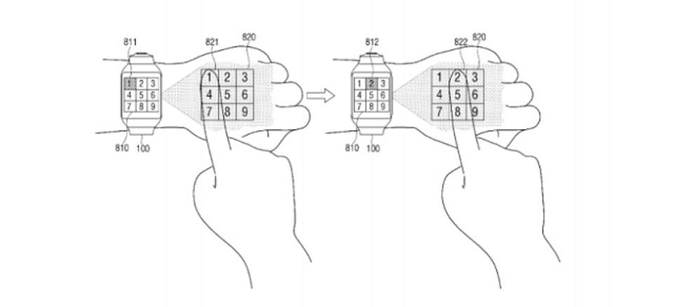 ディスプレイを手の甲に投影する新たなスマートウォッチをSamsungが開発中?