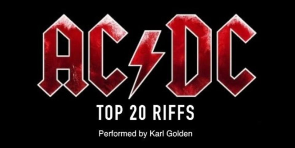 AC/DC史上最高のリフ20選を約3分で演奏