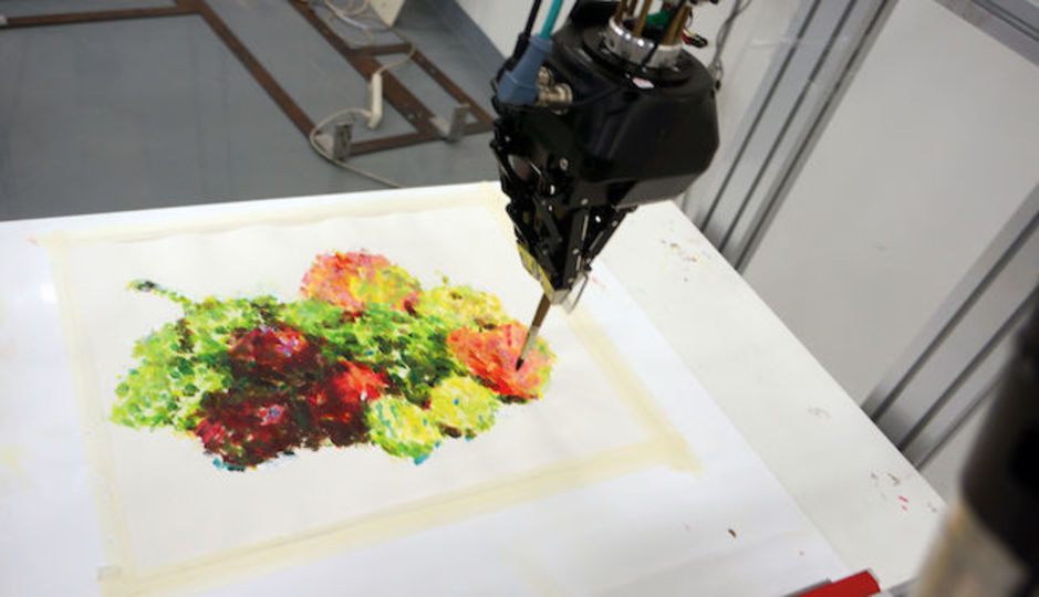 世界初のロボットアートコンテスト、発表! ロボットが描いた絵の美しさを競う