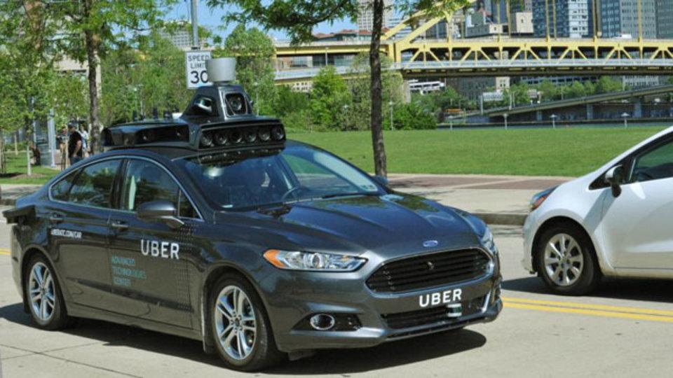 ほう、これがUberの自動運転車かぁ