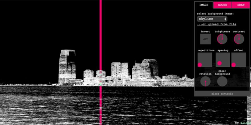 モノクロ画像を音に変換する「ピクセル・シンセ」で奇妙なアンビエントを