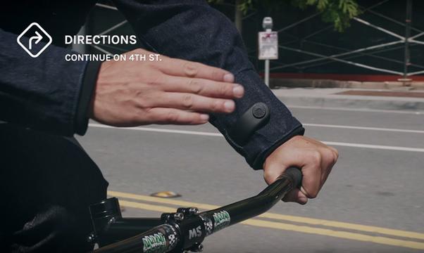 GoogleとLevi'sがコラボ、自転車乗りのためのスマートジャケット