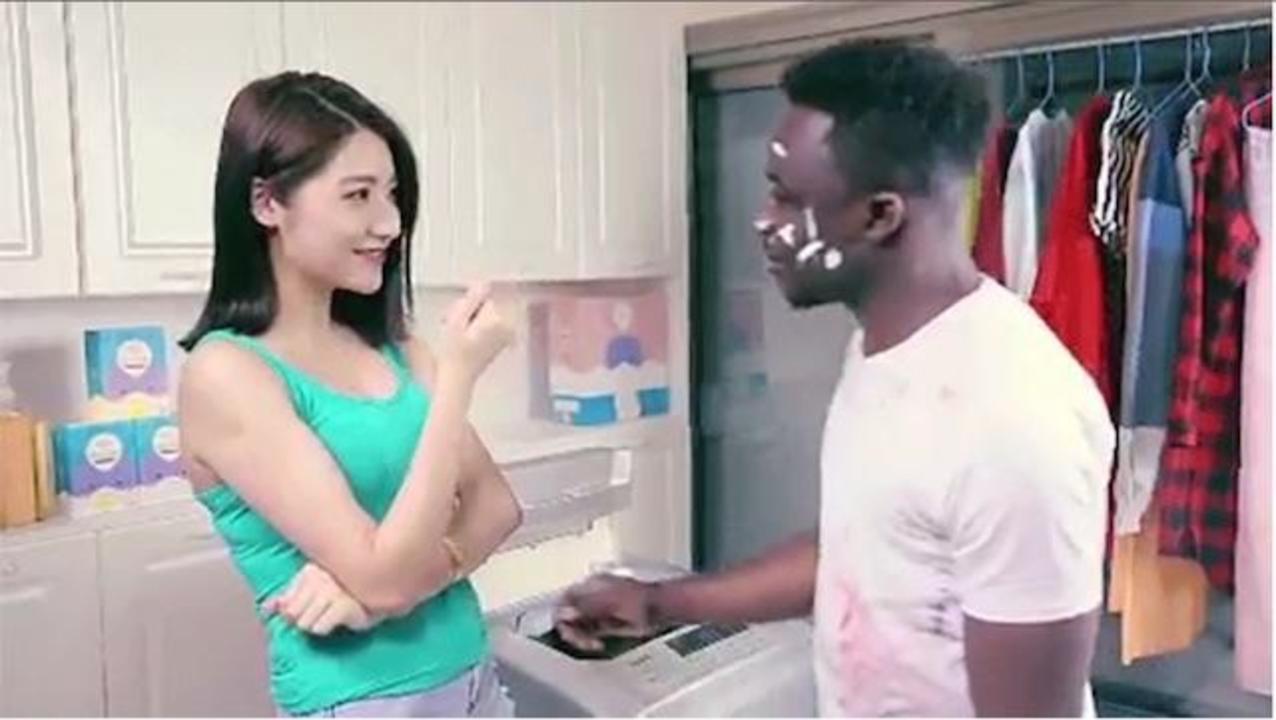 中国の洗剤CMが物議を醸すとんでもないレイシズム