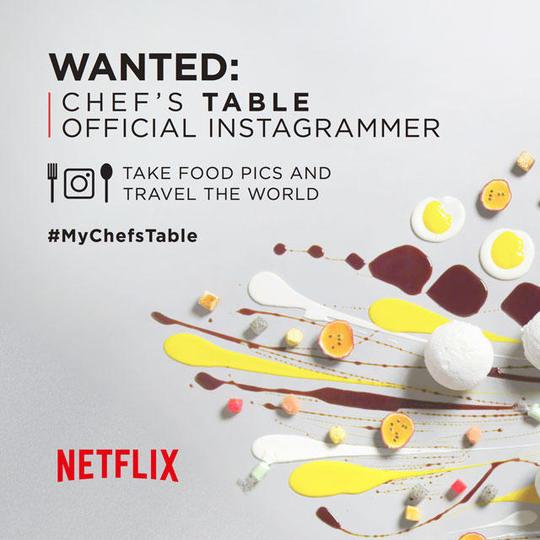 Netflixが専属Instagramerを募集! 世界最高峰のレストランを巡る美味しい旅へご招待