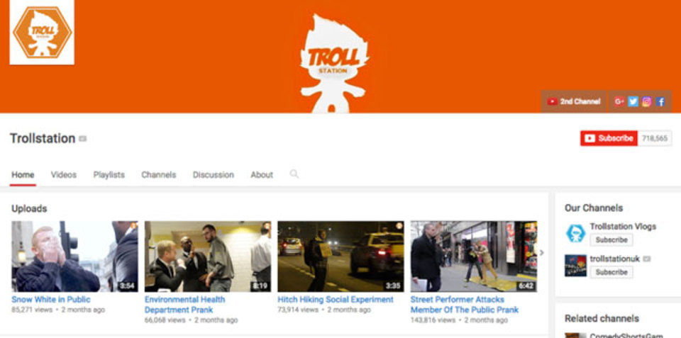 イタズラ動画で人気のYouTuber、イタズラがすぎて逮捕される