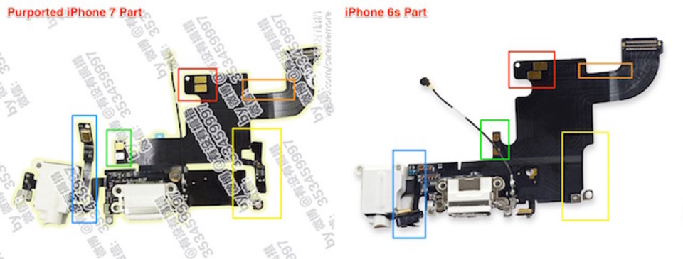 あれ、iPhone 7の部品にヘッドホンジャックがある…?