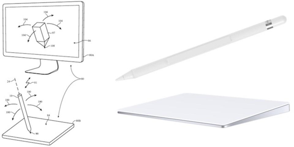 Apple PencilとMacのTrackpadでお絵かき? 新特許が判明