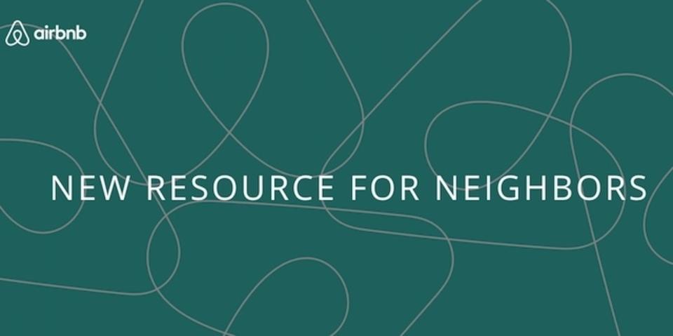 Airbnb利用者...の隣人に朗報。隣人が苦情を送信するシステムが導入される