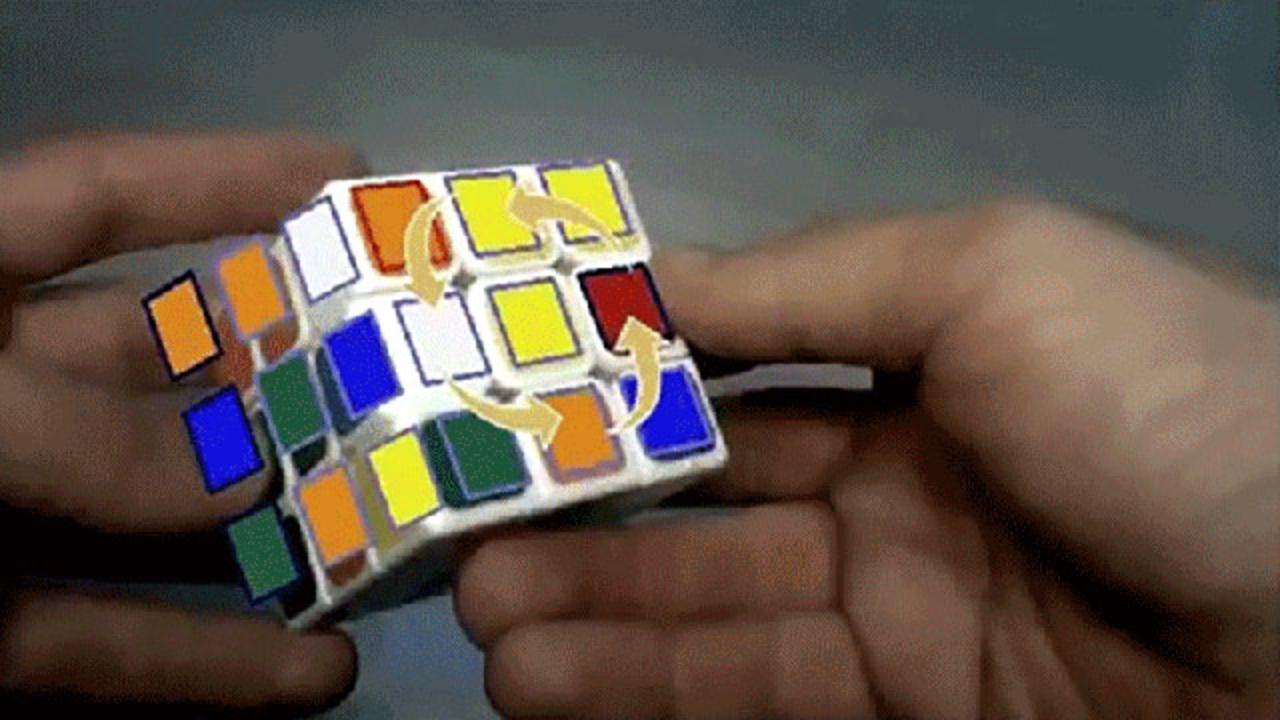 ARでルービックキューブの解き方を教えてくれるソフトウェア
