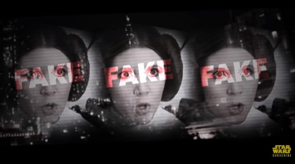 映画「スター・ウォーズ」レイア姫を攻撃するネガティブ政治広告