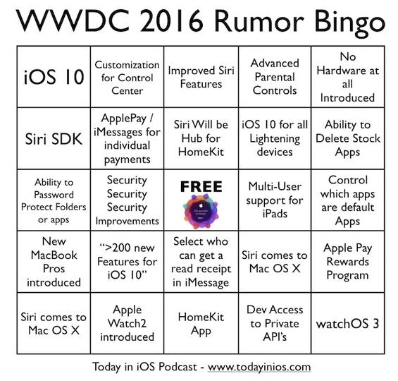 今年のWWDCはこのビンゴと一緒にどうぞ