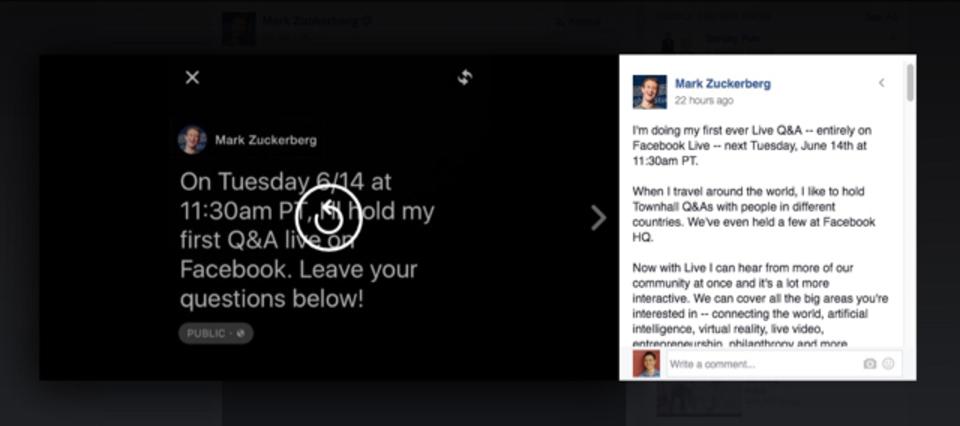 マーク・ザッカーバーグがFacebook「ライブ動画」で初のQ&A。あなたも質問できちゃいます
