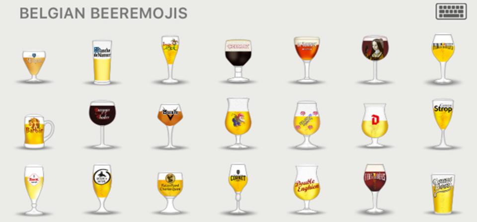 ビール好きならマストでダウンロード。ベルギービールの絵文字、60種類!
