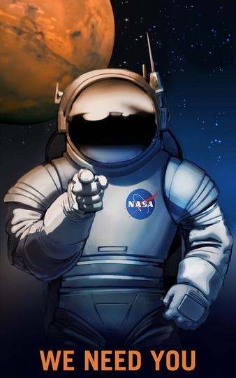 「君も火星に行かないか!」NASAのポスターが煽り過ぎててスゴイ