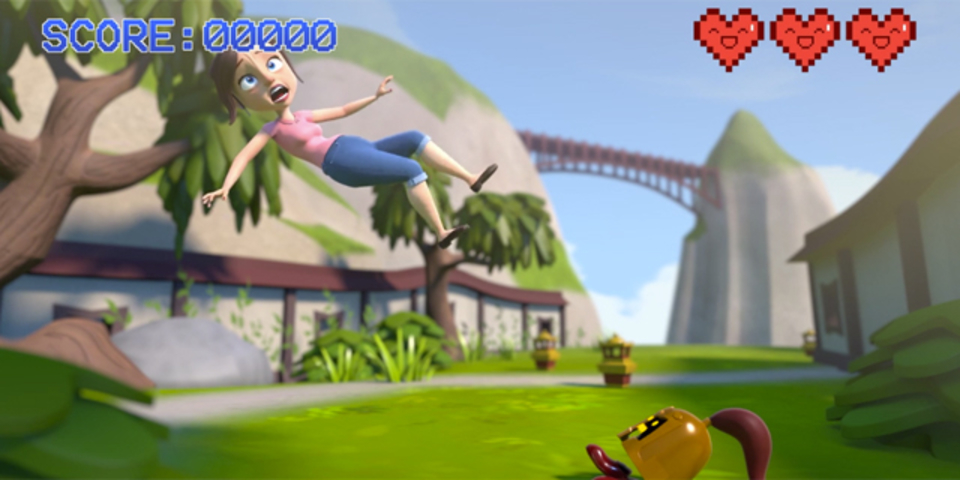 倒せドラゴン!テレビゲームに取り込まれたママを助けるショートアニメ
