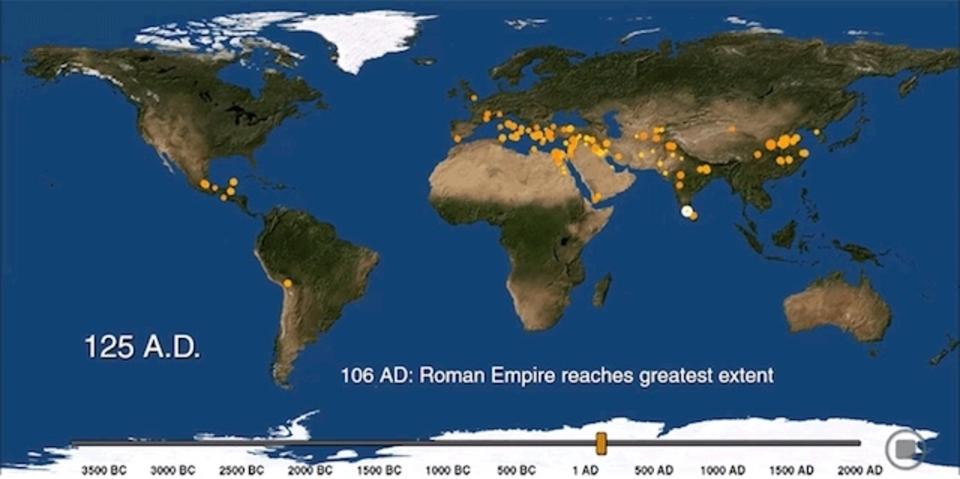 6,000年分を3分で! 世界の都市化の歴史をグラフィックにして振り返る